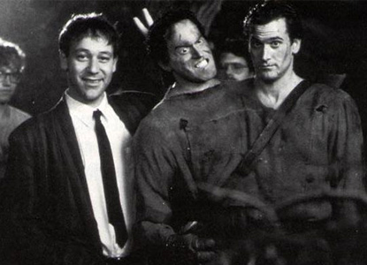 Sam Raimi, Bruce Campbell and Evil Bruce Campbell.